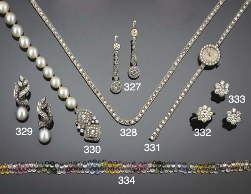 A cultured pearl necklace on a