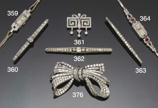 A lady's Art Deco diamond and