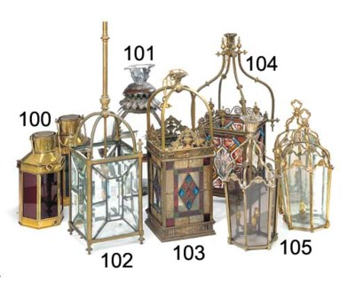 A late Victorian gilt brass an