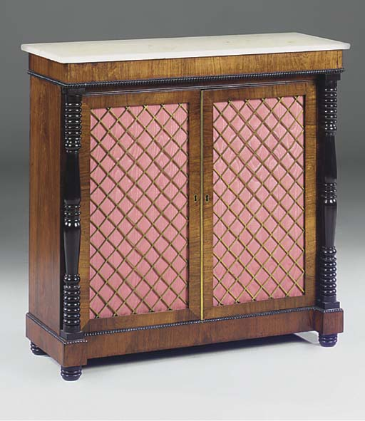 A LATE REGENCY ROSEWOOD AND EB