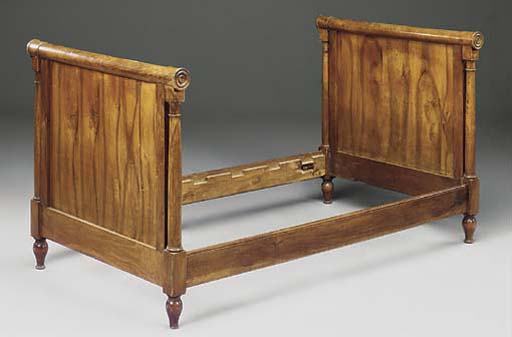 A PAIR OF FRENCH WALNUT BEDS