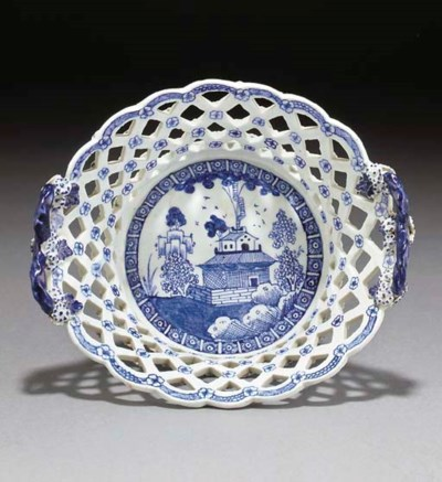 A Derby blue and white two-han