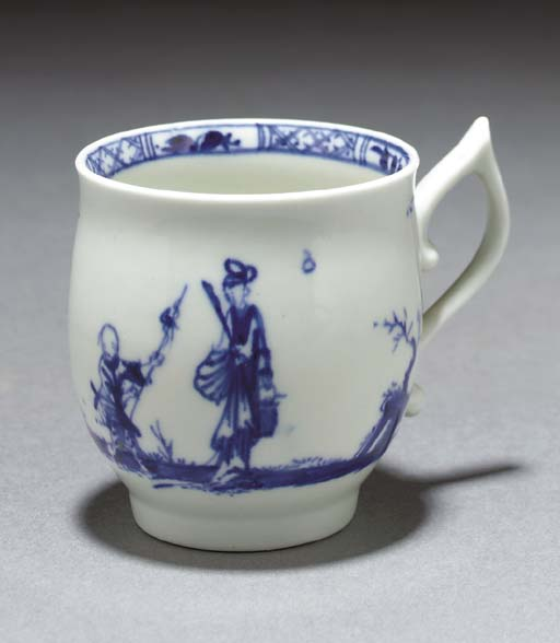 A Worcester blue and white bel