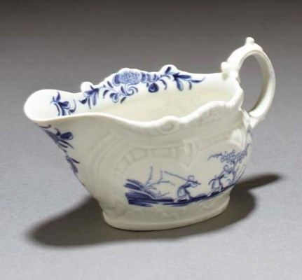 A Worcester teacup and saucer