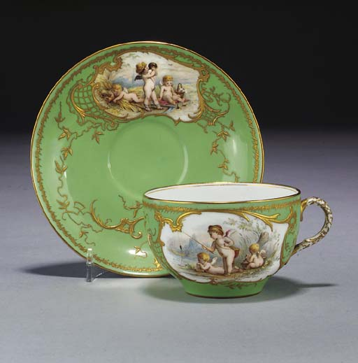 A Royal Worcester pale-green-g