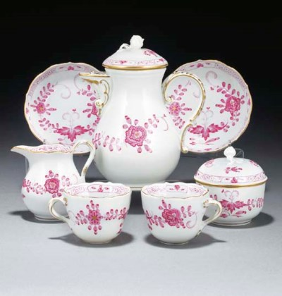 A Meissen part coffee-service