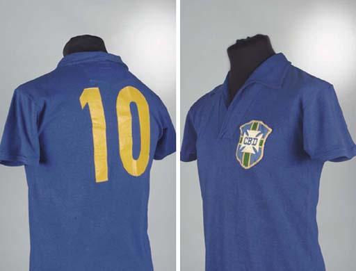 A BLUE BRAZIL V. SWEDEN 1958 W