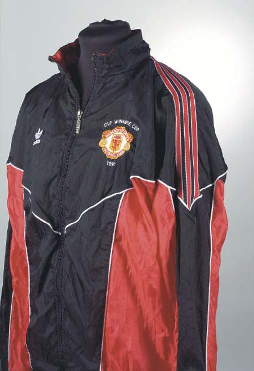 A RED AND BLACK MANCHESTER UNI