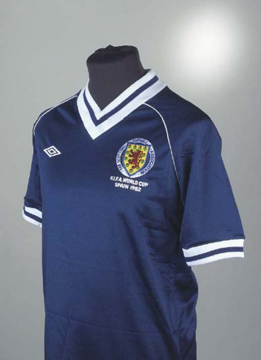A BLUE SCOTLAND 1982 WORLD CUP
