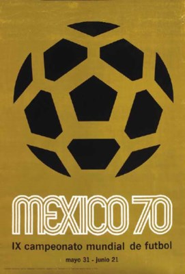 A 1970 WORLD CUP POSTER