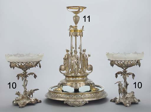 A VICTORIAN PARCEL-GILT PLATED