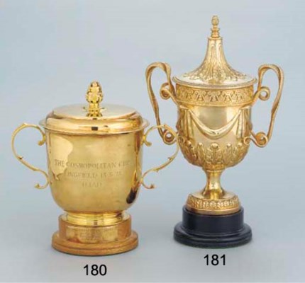 A GEORGE V SILVER-GILT TWO-HAN