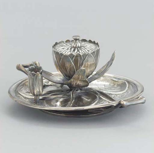 A VICTORIAN SILVER INK STAND