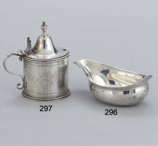 A GEORGE III SILVER PAP BOAT