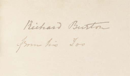 BURTON, Richard Francis (1821-