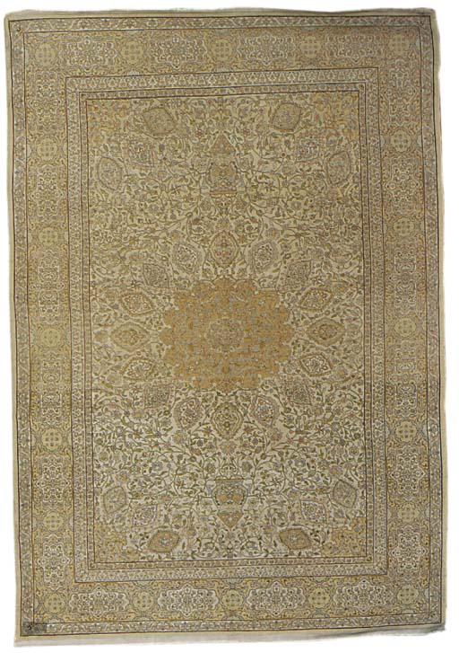 A very fine Hereke silk carpet