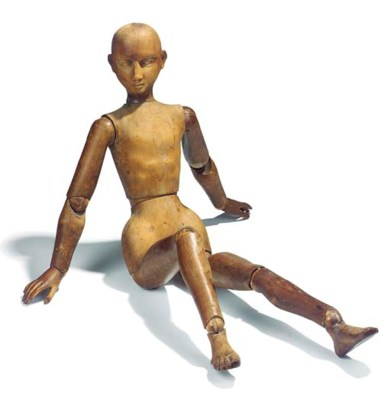 A WOODEN LAY FIGURE