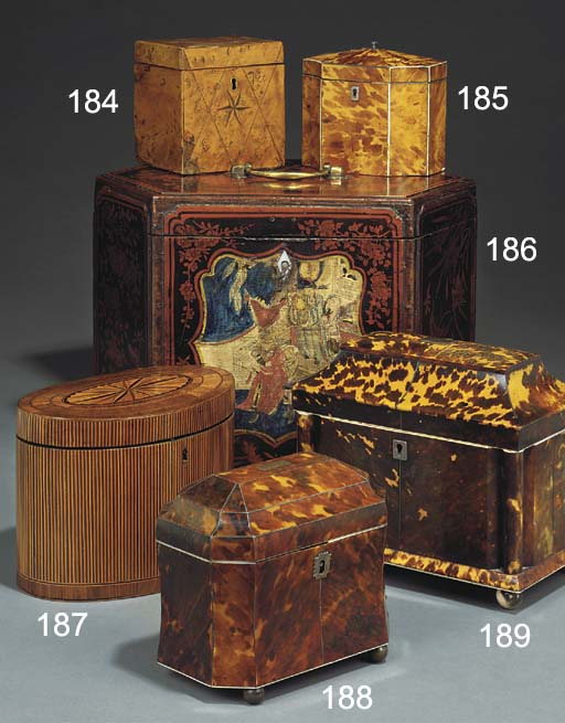 A GEORGE III PARQUETRY INLAID