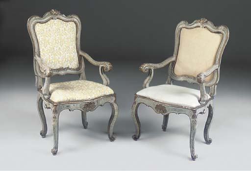 A PAIR OF VENETIAN PALE BLUE A