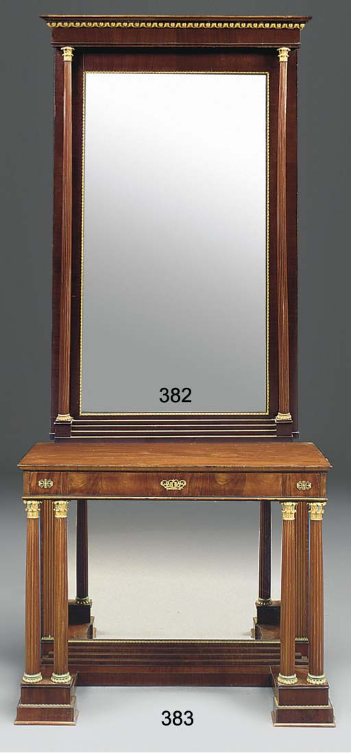 A VIENNESE MAHOGANY AND GILT H