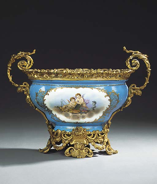 A FRENCH GILT BRONZE MOUNTED P