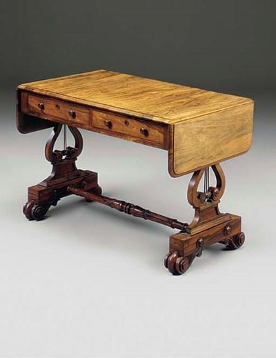 A GEORGE IV ROSEWOOD SOFA TABL