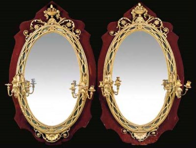 A PAIR OF LATE VICTORIAN GILT