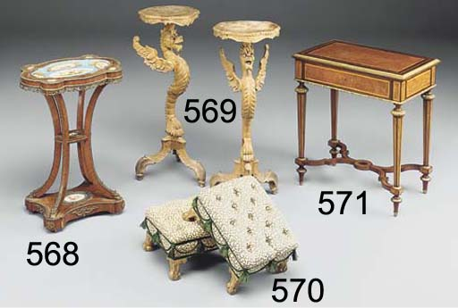 A FRENCH TULIPWOOD AND GILT-ME