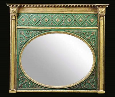A LATE REGENCY GILT AND LATER