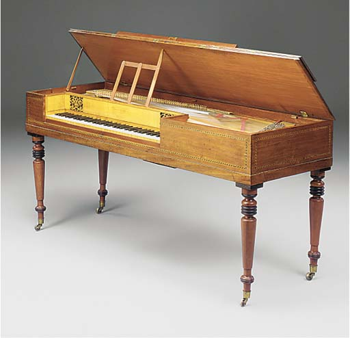 A MAHOGANY SQUARE PIANO