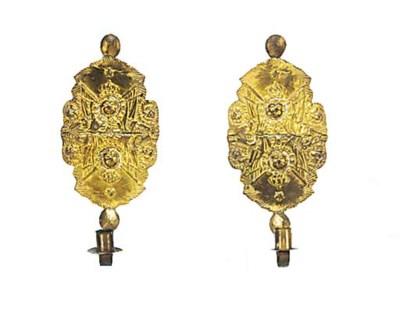 A pair of Continental repoussé