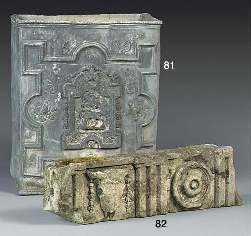 An English sculpted stone frag