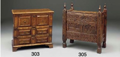 AN INDIAN HARDWOOD CHEST