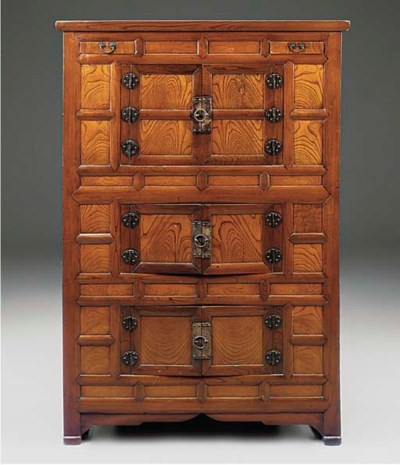 A KOREAN ELM CABINET