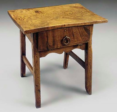 A SPANISH CHESTNUT SIDE TABLE