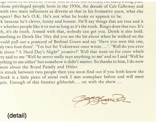 George Harrison/Derek Taylor