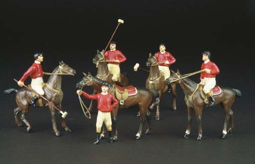 Heyde 54mm. scale Polo Players
