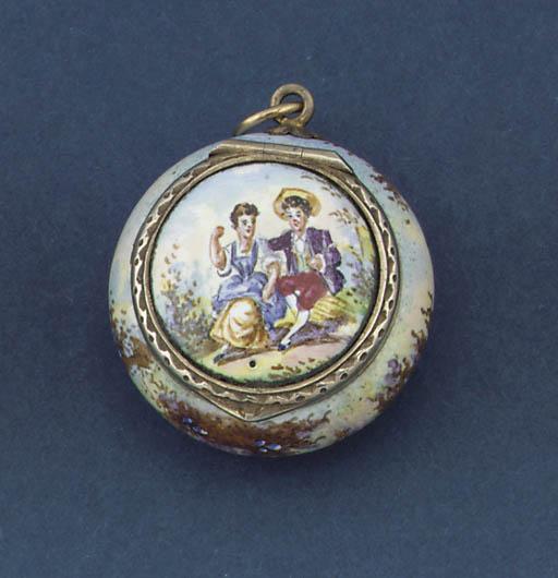 A silver-gilt Viennese enamell