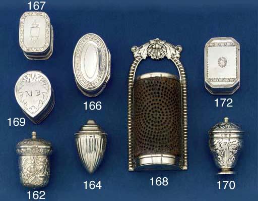 A George III double-lidded nut