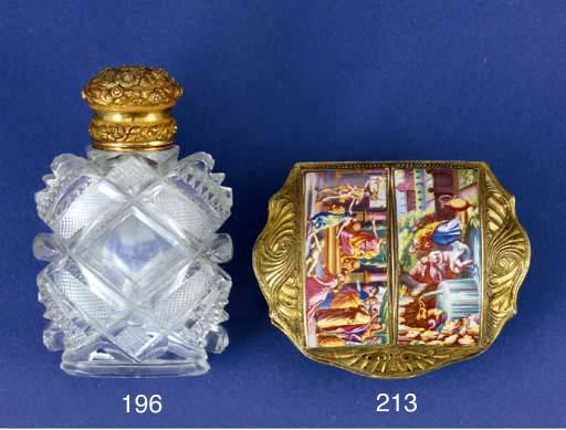A silver-gilt snuff box