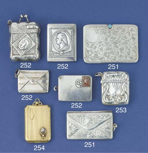 A two-division stamp case