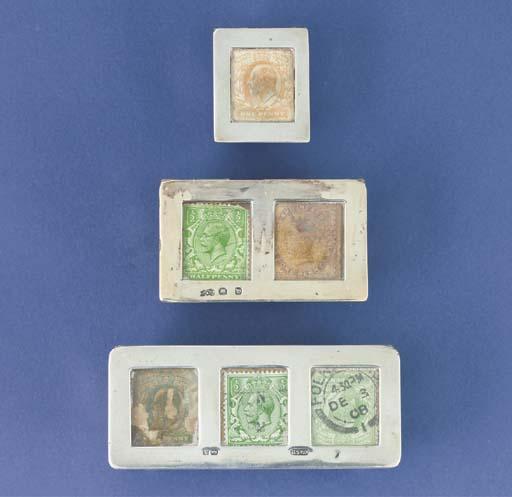 An Edwardian triple stamp trou