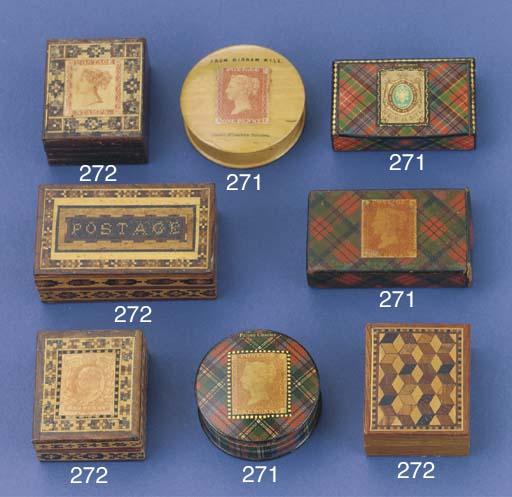 A Victorian Tunbridgeware stam