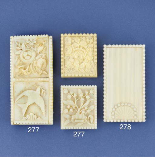 An ivory two-division stamp ca