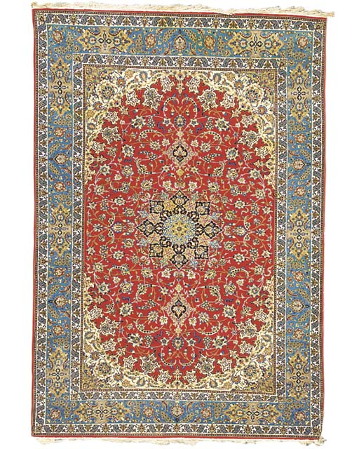 A very fine Isfahan carpet