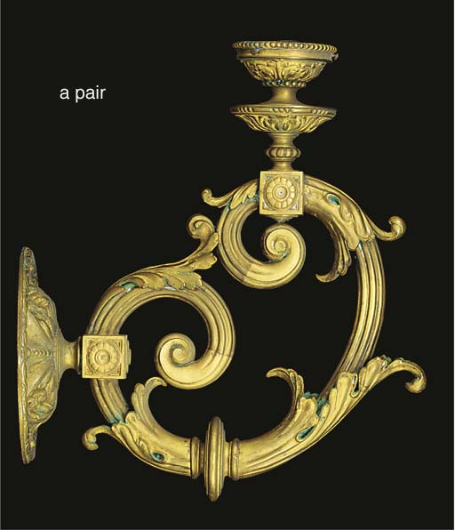A pair of Victorian brass sing