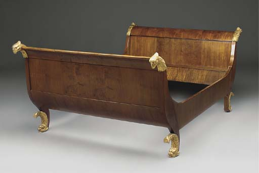 A FRENCH MAHOGANY AND PARCEL G