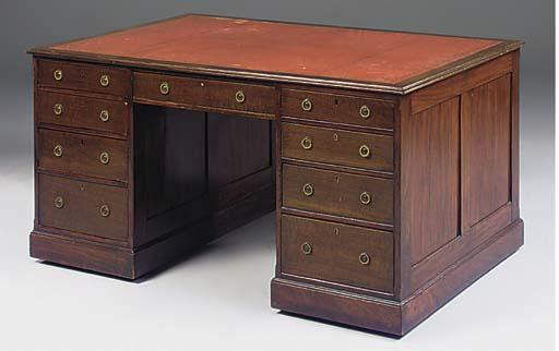 A late Victorian mahogany part