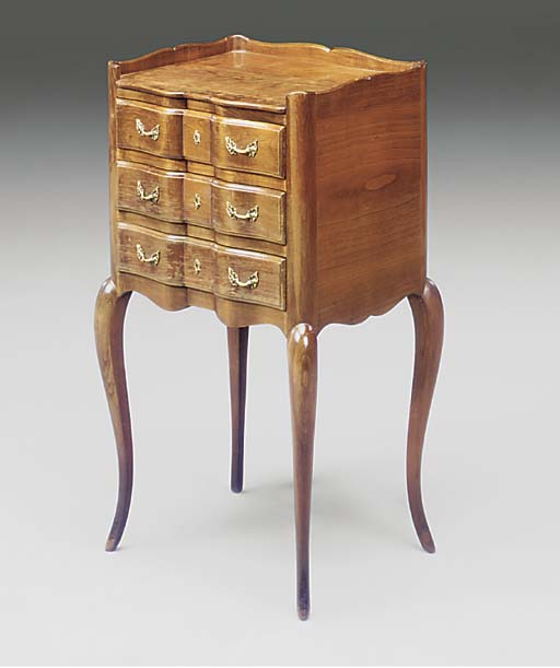 A pair of fruitwood bedside ca