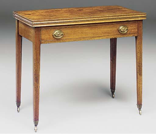 A walnut tea table